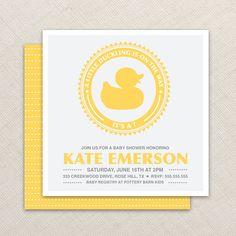 Boy Baby Shower Invitation  Duck Baby Shower by EllisonReed, $16.00