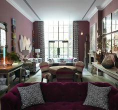 Firmdale Hotels - I want the table and chairs in the middle!