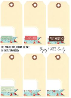 Free Printable Shipping Tags with Words and Plain