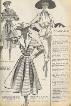 VINTAGE FRENCH MODES TRAVAUX CATALOG FASHION PATTERNS COAT SUITS DRESSES CHEMISE   eBay