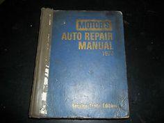 Motor's Auto Repair Manual 1970 Service Trade Edition