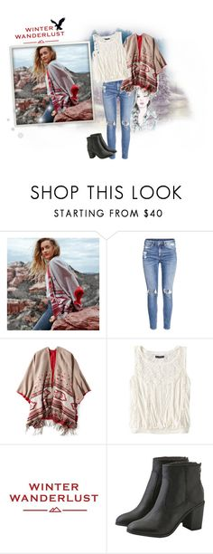 """Winter Wanderlust with American Eagle: Contest Entry"" by rosy-fernandes ❤ liked on Polyvore featuring GE, American Eagle Outfitters, H&M and aeostyle"