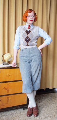 Irresistible Looking Great Ladies Golf Fashion Ideas. Mesmerizing Looking Great Ladies Golf Fashion Ideas. 1930s Fashion, Retro Fashion, Trendy Fashion, Fashion Show, Vintage Fashion, Vintage Style, Wedding Vintage, Fashion Ideas, Golf Attire