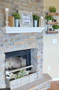 Refreshed Modern Farmhouse Living Room. Spring decor ideas.