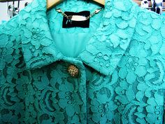 Guess by Marciano sage/mint lace coat!Check out my blog La Vie Fleurit! www.LaVieFleurit.com ... ENJOY! #fashion, #beauty, #accessories, #lifestyle, #art, #interior, #food, #look, #style, #wishlist, #luxury, #hotspots