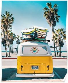 Blue Aesthetic Discover Van Life - Yellow Poster by galdesign Bedroom Wall Collage, Photo Wall Collage, Picture Wall, Bedroom Art, Aesthetic Backgrounds, Aesthetic Iphone Wallpaper, Aesthetic Wallpapers, Beach Aesthetic, Blue Aesthetic