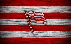 Download wallpapers Cracovia, 4k, Ekstraklasa, wooden texture, football, Poland, Cracovia FC, soccer, football club, FC Cracovia