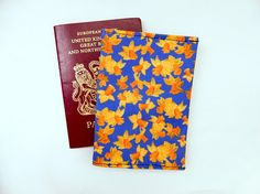Your place to buy and sell all things handmade Bold Colors, Colours, Passport Cover, Shades Of Yellow, Wash Bags, Blue Bags, Daffodils, Printing On Fabric, How To Draw Hands