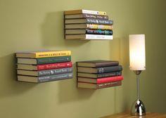 estante de livros invisivel