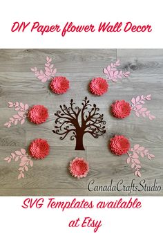 Template available at my ETSY Shop. #paperflower #paperflowertemplate #SVGpaperflowers #Cricutcutfiles #Paperflowers #DXF #paperflowerDIY #backdrop #DIYpaperflower
