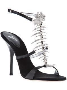 Giuseppe Zanotti Design Sparkling Fish Bone Sandal €795  Shoes  Heels  Giuseppe Zanotti Heels f67ebee94c4e