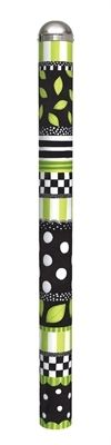 "Green and Black All Weather 6' Peace Pole -Add a little whimsy to your garden! These decorative floral art poles are 6' in height and each side is 6"" wide. Each panel displays a unique image with the same theme and incorporating pieces from other panels. The artwork is laminated onto lightweight durable PVC to help it remain scratch and fade resistant. Hardware included and no digging required."