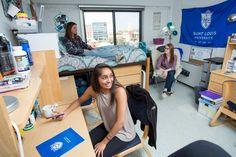 Triple Dorm Room Reinert Hall Saint Louis University Slu