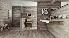 Best Wood Tile Bathroom Design — Home Designs Wooden Wall Bathroom, Wood Wall Tiles, Wood Tile Floors, Small Bathroom, Wood Effect Floor Tiles, Wall And Floor Tiles, Bathroom Floor Tiles, Shower Tiles, Wood Floor