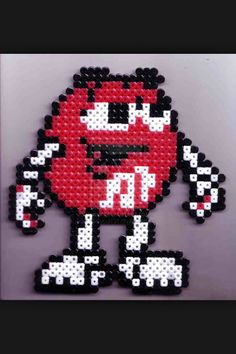 Red M & M magnet