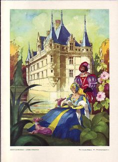 illustration by Jean Mercier Children's Book Illustration, Book Illustrations, Art Textile, Vintage Posters, French Posters, Whippet, Illustrators, Fairy Tales, Medieval