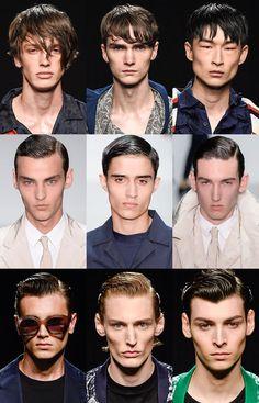 Men's Wet Look Hair - James Long, Matthew Miller and Casely-Hayford Spring/Summer 2016 Runways