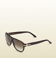 3330d7cd26 Gucci - gafas de sol tipo piloto en habana marrón 343681J07442200 Habanos,  Gafas De Sol