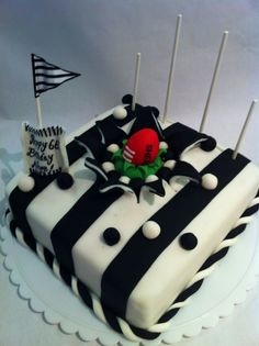 Novelty AFL football cake -, In PIES Colours, the mighty Black White! Football Birthday Cake, Football Cakes, 21st Birthday Cakes, Birthday Ideas, Theme Cakes, Party Cakes, Collingwood Football Club, Australian Football