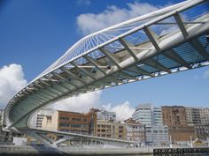 Zubizuri Bridge in Bilbao, Spain   No way, Jose (haha no pun intended). Ya couldn't pay me to go on this bridge. Actually, maybe. I'd probably do it for 10 dollars, but I bet I would hesitate.