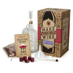 Fancy yourself as a master vintner but don't know your 'terroir' from your 'tempranillo'? Now you can Pinot like a pro with the Craft A Brew Wine Making Kit.