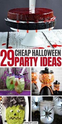 29 Cheap & easy DIY Halloween party ideas that'll scare your guests! These Hallo… 29 Cheap & easy DIY Halloween party ideas that'll scare your guests! These Halloween party ideas are simple, cheap and. Halloween Party Drinks, Cheap Halloween Decorations, Easy Halloween Food, Halloween Food For Party, Halloween Birthday, Halloween Games For Adults, Diy Halloween Desserts, Birthday Parties, Halloween Makeup