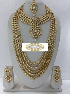 Kundan bridal set by SokoraJewellery on Etsy
