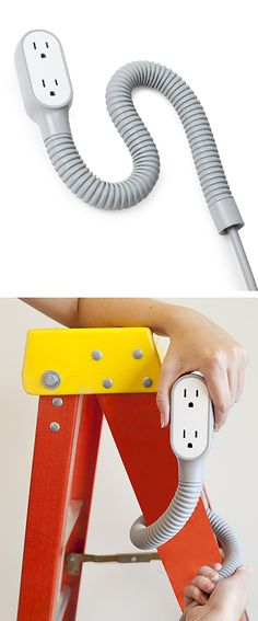 Prop power pro extension cord // Coils around anything to keep it where you need it - brilliant! #product_design