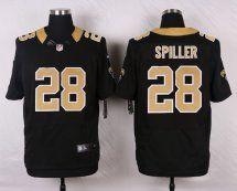 New Orleans Saints #28 C.J. Spiller Black NFL Elite Men Jersey