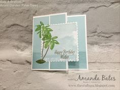 The Craft Spa - Stampin' Up! UK independent demonstrator : Avant Garden Palm Trees Duo