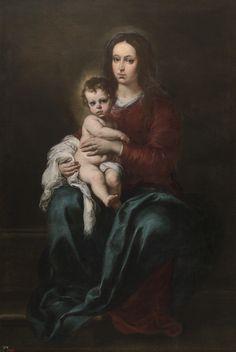 """""""La Virgen con el Niño"""", Murillo (1655-1660)"""