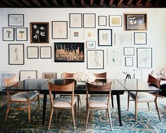 art wall in the dining room