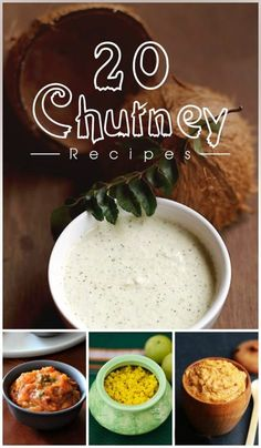 Chutney is a quintessential side dish in Indian cuisine that gives a pleasant jolt to your taste buds and scores big with almost all types of snacks and meals. The aromatic, tangy, savory and sweet taste of the chutney enhances the flavors and turns even Easy Chutney Recipe, Indian Chutney Recipes, Indian Food Recipes, Asian Recipes, Ethnic Recipes, Veg Recipes, Vegetarian Recipes, Cooking Recipes, Healthy Recipes
