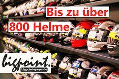 Bei BigPoint Speyer finden sie eine Auswahl von bis zu über 800 Helmen von namen…