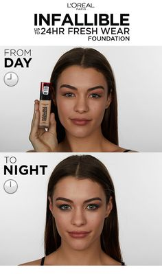 With breathable-skin technology, L'Oreal Paris Fresh Wear Foundation lasts all day and allows the skin to breathe - This lightweight foundation makes skin feel hydrated and comfortable for up to 24 hours. Makeup Tips, Beauty Makeup, Eye Makeup, Diy Beauty, Hair Makeup, Beauty Skin, Homemade Beauty, Beauty Ideas, Beauty Tricks