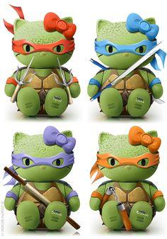 Teenage Mutant Ninja Turtle Kitty! This is my childhood favorites combined!