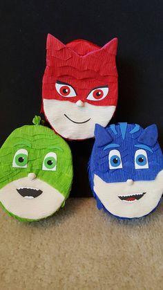 Pj Masks pinata Cat boy/owlette/Gekko by PinatasUSA on Etsy