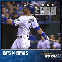 #Royals sweep twin bill with Game 2 win over Rays. | royals.com