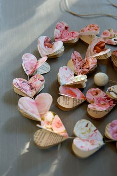 Hey, I found this really awesome Etsy listing at https://www.etsy.com/listing/188814580/paper-hearts-garlands-pink-roses-hearts