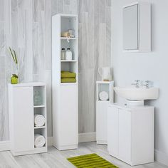 Buy the High Gloss Compact Bathroom- Tallboy, Grey from STORE today! A part of our Bathroom Storage Cabinets & Units range. Mirror Cabinets, Bathroom Storage Units, Under Sink Unit, Bathroom Corner Storage, Bathroom Tallboy, Bathroom Wall Cabinets White, Bathroom Storage Cabinet, White Corner Cabinet, White Bathroom