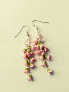 Polymer clay blossoms