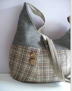 Harris Tweed slouch bag