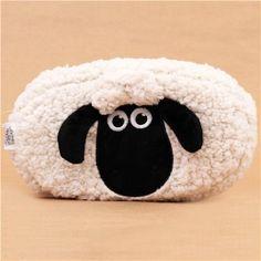 fluffy Shaun the Sheep plush pencil case