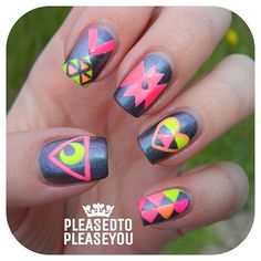 .@pleasedtopleaseyou | Daylight picture of these neon babies! I used Kelara Lacquers Mercury&...