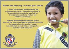What's the best way to brush your teeth?