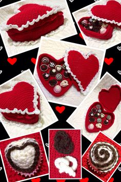 Crochet box of Chocolates.  Great valentines or Mother's Day gift.