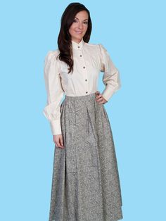 1870s Prairie Skirt and Victorian Old West Blouse - 1800s clothing