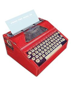 Look at this #zulilyfind! Typewriter Paper Note Dispenser #zulilyfinds