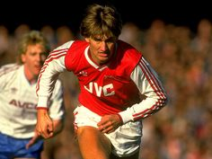 A youthful looking Tony Adams resplendent in JVC for Arsenal in 1986