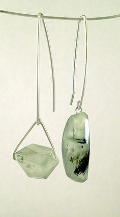 Touch of Green: Dagmara Costello: Silver & Stone Earrings | Artful Home